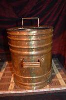 Vintage Copper Water Tank, Planter Vase w/ Handles