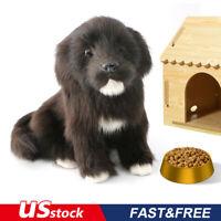 Realistic Black Labrador dog Puppy Pet Simulation Stuffed Animal Doll Toy