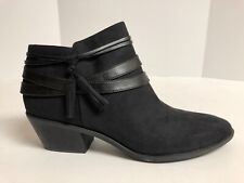Life Stride Paloma Womens Bootie Black Suede 11 M