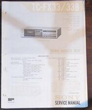 Sony TC-FX33/B registratore a cassette Servizio di Riparazione Officina Manuale (copia originale)