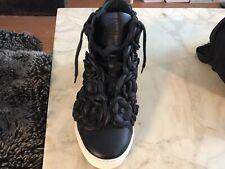 CHANEL Camellia Covered Black Right Foot Sneaker. Size 36.5 Single Sneaker Only