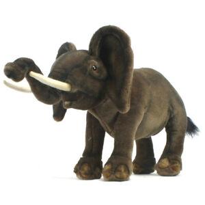 Wild Walking Elephant Hansa Realistic Soft Animal Plush Toy 48cm **FREE DELIVERY