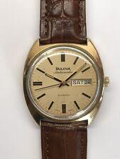 Bulova Ambassador Automatic Gents Vintage Watch Self Wind 17 Jewels Gold Plated