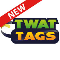 TwatTags sticker games, Party pack, humorous card addition adult rude novelty