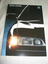 Honda Accord range brochure c1991 New Zealand market