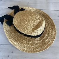 The Scala Collection Women's Size S Natural Fibers Wide Brim Straw Hat