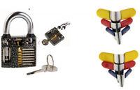 Set -Premium Padlock Shims (6) bunt + Übungsschloss schwarz Lockpicking