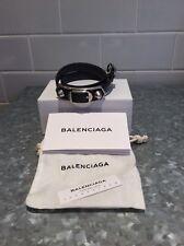 Balenciaga Grey Leather Bracelet, Small