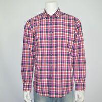 HUGO BOSS Regular Fit Lucas Cotton Casual Shirt Sz XXL Multi Plaid