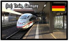 TRAINS (ICE TRAIN, GERMANY) - SOUVENIR NOVELTY FRIDGE MAGNET - BRAND NEW