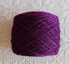 Crochet Thread Aunt Lydia's Size 10-Hand Dyed ( Red Violet  ) 300 YDS.