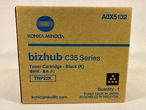 Konica Minolta bizhub C35 Series Black Toner Cartridge TNP22K A0X5132 Genuine