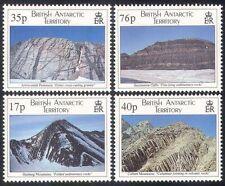 BAT/BR ANTARTICO TERR 1995 montagne/GEOLOGIA/strutture geologiche 4 V Set n39794