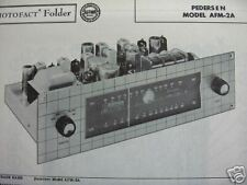 PEDERSEN AFM-2A TUNER RECEIVER PHOTOFACT