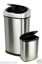 2 of Automatic Motion Sensor Trash Cans Nine Stars Touchless No Odors Stainless