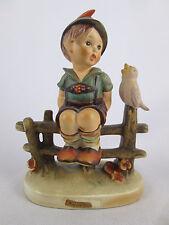"""Hummel Figurine Wayside Harmony 5"""" TMK4 Figurine 111 Goebel Boy on Fence Bird"""