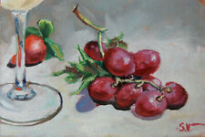 Grapes. Still life Modern original oil painting Wall art