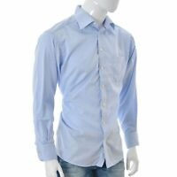 ETON for Mens Casual Shirt top Button Front Long Sleeve Size 42 Blue Genuine