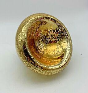MERCURY GLASS Bowl, GOLD
