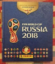 Panini Russia 2018 World Cup complete set Loose Stickers + Hardback Album