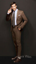 Cutom Made Brown Men Suit,Tailored Brown Men Wedding Suits,Brown Men Tuxedo