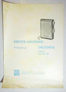 Service Anleitung Orljonok TT-Empfänger Import aus der SU RFT 1969 (D9