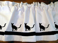 Balinese Cat Window Valance Curtain Choice of Colors*