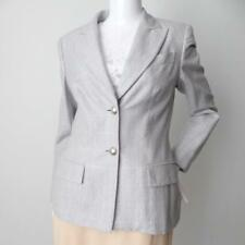 2e78e498d1f ESCADA BY MARAGETHA LEY Vintage Jacket Size 38 AU 8 US 4 Silver Wool and  Silk