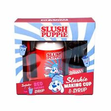 Cherry Slush Puppie Slushie Making Cup and Syrup Gift Set - Boxed