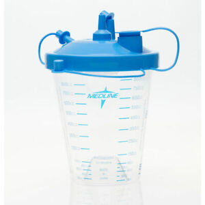 MEDLINE 1 EA Suction Canister with Float Lid & Tubing, 850 cc HCS7851 CHOP