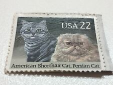 Stamp, Usa, American Shorthair Cat, Persian Cat, .22 Cents, Used, 1140-09172018