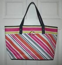 C Wonder Signature Striped Pink Yellow Handbag Tote