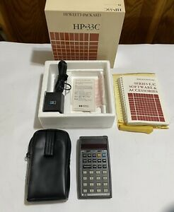 Vintage Hewlett Packard HP 33C Calculator With Manuals Case Adapter No Reserve
