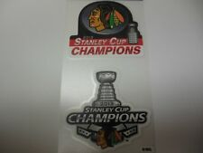 2013 Chicago Blackhawks 2 Pack Die Cut Decal Stanley Cup Champions by Wincraft