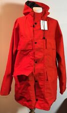BRIGHT ORANGE-RED OUTDOOR SURVIVAL JACKET WITH HOOD