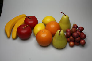 Vintage Wooden Fruit Set 11 piece set