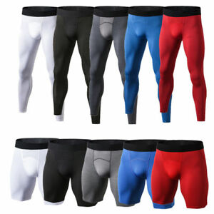 Men's Compression Sports Base Layer Gym Fitness Pants Tight Quick Dry Trousers