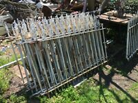 Architectural Salvage Cast Iron Garden  Fence Railing 58 Feet Plus 3 Ft Gate