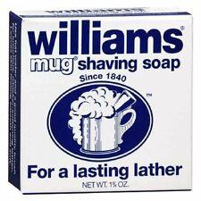 Williams Mug Shaving Soap Foamy Lasting Lather Soft Smooth Skin, 1.75 oz, 1 Pack