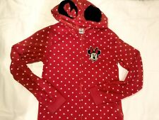 Ex Disney Girls Grey Hooded Minnie Mouse Onezee Pyjama  Age 2 3 4 5 6 7 NEW SALE