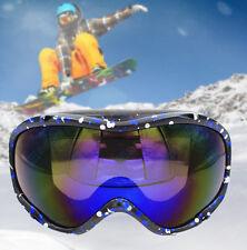 Snowboard Ski Goggles Glasses Men Women Dual Anti-Fog Black Frame Tinted Lens US