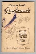 1935 John Players & Sons Famous Irish Greyhounds Tobacco Cards Near Set In Album