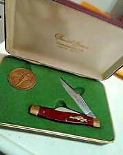 VINTAGE Daniel Boone - Commemorative Limited Edition Knife and Brass Medal Set