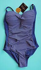 Nip Tuck Swim Bond-eye Blue Navy MultiCup Bra One-piece Swimsuit US 4 AUS 8 NWT