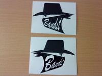 fun bandit pair tank vinyl graphics decals stickers helmet,motorbike, racing car