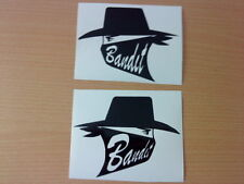fun bandit pair tank vinyl graphics decals stickers helmet,motorbike, racing car
