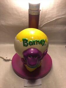 1993 Barney the Dinosaur- Hot Air Balloon-Bedside Lamp- Vintage - No Shade