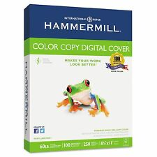 500 Hammermill Color Copy Digital Cover Paper 100-Bright 60lb 8.5x11 Heavy White