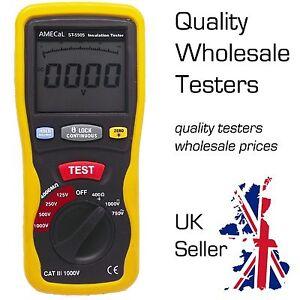Insulation Tester Equiv: Continuity / Low Ohms / Megohm Meter AMECaL ST-5505