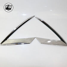 2PCS Silver Chrome front Eyebrow lights cover trim For 2016-2017 Cadillac XT5